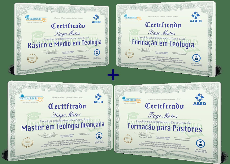 certificado universalidade da biblia combo
